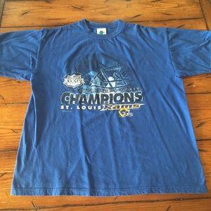 Vintage St Louis Rams Champions T Shirt